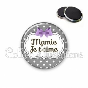 Magnet 56mm Mamie je t'aime (006GRI04)