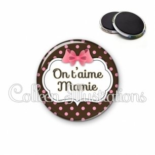 Magnet 56mm Mamie on t'aime (006MAR02)