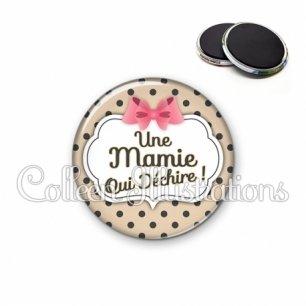 Magnet 56mm Mamie qui déchire (006MAR04)