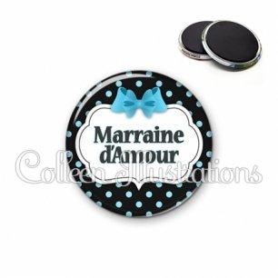 Magnet 56mm Marraine d'amour (006NOI05)