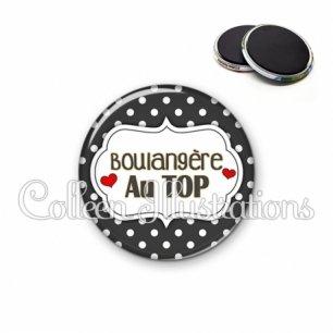 Magnet 56mm Boulangère au top (006NOI11)