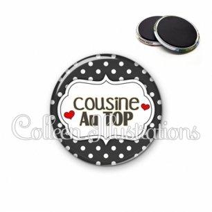 Magnet 56mm Cousine au top (006NOI11)