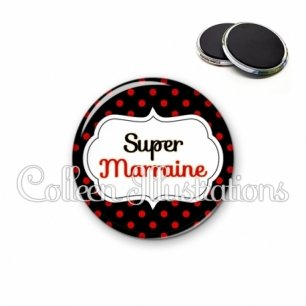 Magnet 56mm Super marraine (006NOI12)