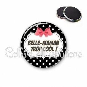 Magnet 56mm Belle-maman trop cool (006NOI13)