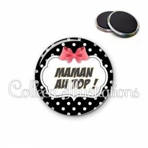 Magnet 56mm Maman au top (006NOI13)