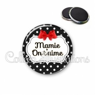 Magnet 56mm Mamie on t'aime (006NOI14)