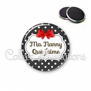 Magnet 56mm Nanny que j'aime (006NOI14)