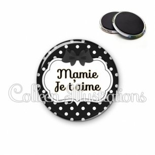 Magnet 56mm Mamie je t'aime (006NOI16)
