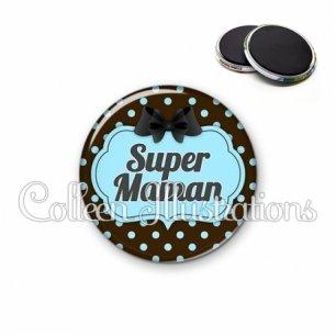 Magnet 56mm Super maman (006NOI18)