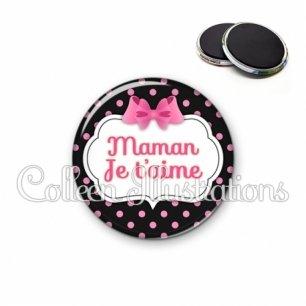 Magnet 56mm Maman je t'aime (006NOI21)