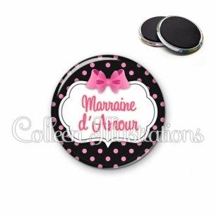 Magnet 56mm Marraine d'amour (006NOI21)
