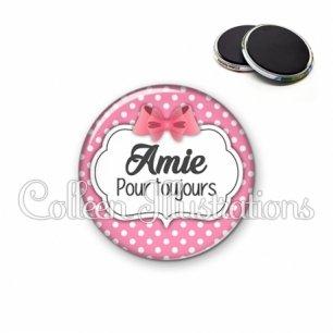 Magnet 56mm Amie pour toujours (006ROS02)