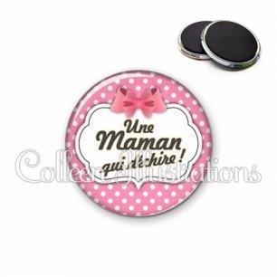 Magnet 56mm Maman qui déchire (006ROS02)