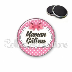 Magnet 56mm Maman gâteau (006ROS02)