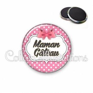 Magnet 56mm Maman gâteau (006ROS02)
