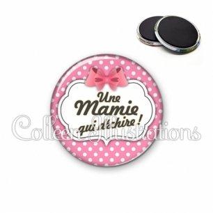 Magnet 56mm Mamie qui déchire (006ROS02)