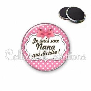Magnet 56mm Nana qui déchire (006ROS02)