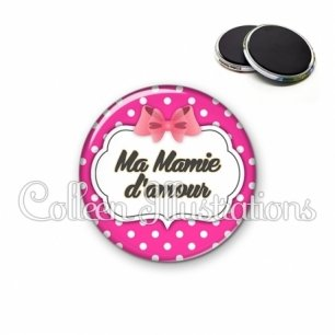 Magnet 56mm Ma mamie d'amour (006ROS11)
