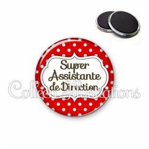 Magnet 56mm Super assistante de direction (006ROU02)