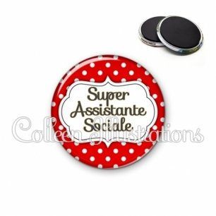 Magnet 56mm Super assistante sociale (006ROU02)