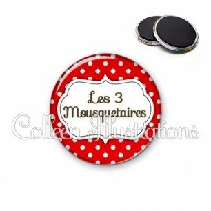 Magnet 56mm Les 3 mousquetaires (006ROU02)