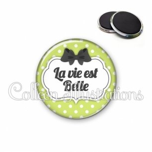 Magnet 56mm La vie est belle (006VER01)