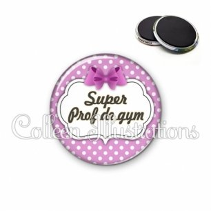 Magnet 56mm Super prof de gym (006VIO01)