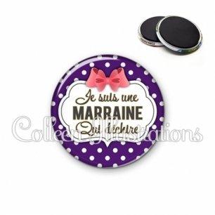 Magnet 56mm Marraine qui déchire (006VIO09)