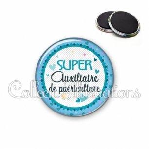 Magnet 56mm Super auxiliaire de puériculture (007BLE01)