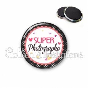 Magnet 56mm Super photographe (007NOI01)