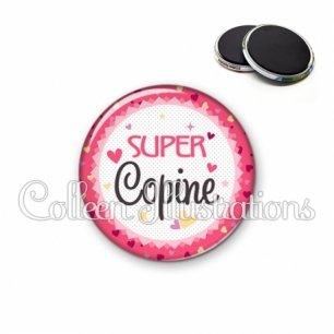 Magnet 56mm Super copine (007ROS01)