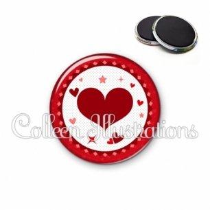 Magnet 56mm Cœurs (007ROU01)