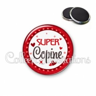 Magnet 56mm Super copine (007ROU01)