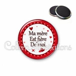 Magnet 56mm Ma mère est fière de moi (007ROU01)
