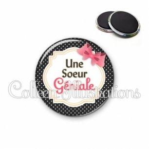 Magnet 56mm Sœur géniale (008NOI01)