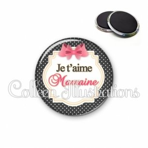 Magnet 56mm Marraine je t'aime (008NOI02)