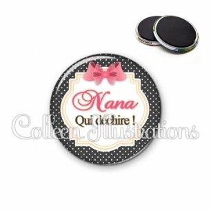 Magnet 56mm Nana qui déchire (008NOI02)