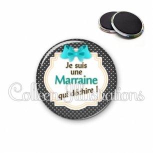 Magnet 56mm Marraine qui déchire (008NOI07)