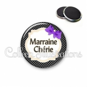 Magnet 56mm Marraine chérie (008NOI16)