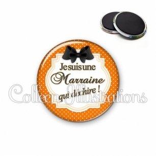 Magnet 56mm Marraine qui déchire (008ORA01)