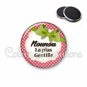 Magnet 56mm Nounou la plus gentille (008ROU01)