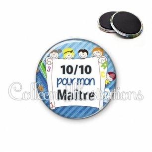 Magnet 56mm 10 sur 10 pour mon maître (010BLE01)