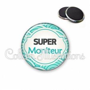 Magnet 56mm Super moniteur (011BLE02)