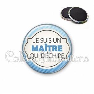 Magnet 56mm Maître qui déchire (011BLE06)