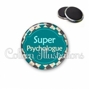 Magnet 56mm Super psychologue (011MUL02)