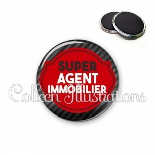 Magnet 56mm Super agent immobilier (011NOI01)