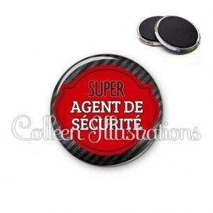 Magnet 56mm Super agent de sécurité (011NOI01)