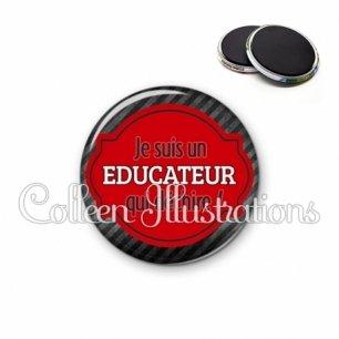 Magnet 56mm Educateur qui déchire (011NOI01)