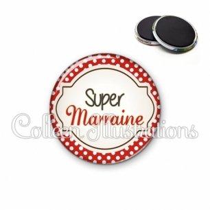 Magnet 56mm Super marraine (011ROU01)