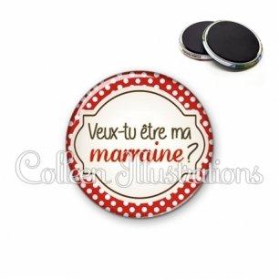 Magnet 56mm Veux-tu être ma marraine (011ROU01)